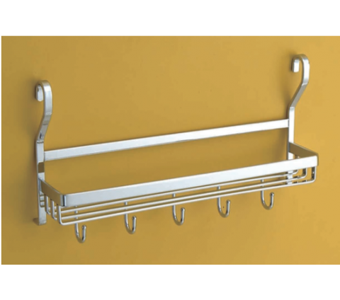 Railing rack with hooks